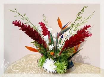 Tropical Paradise Flower Arrangement | Le Jardin Florist