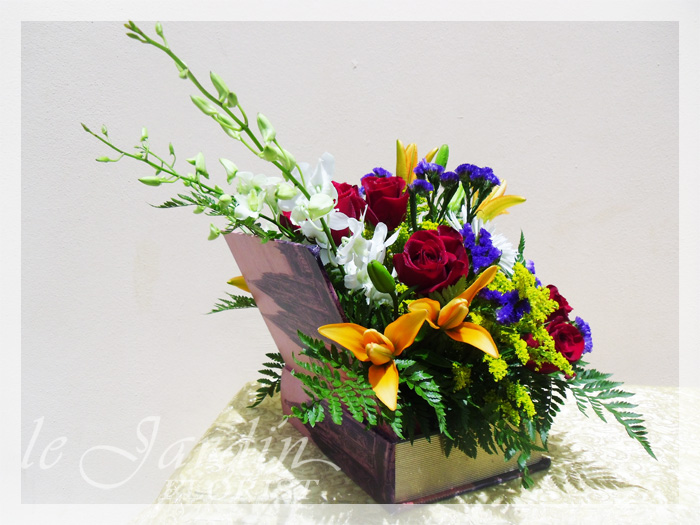 Book of love flower arrangement le jardin florist