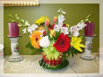 Happy Summer Flower Arrangement   Le Jardin Florist
