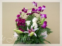 Orchid Love Twist Flower Arrangement