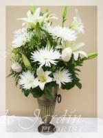 Mont-Blanc Funeral / Sympathy Flower Arrangement | Le Jardin Florist