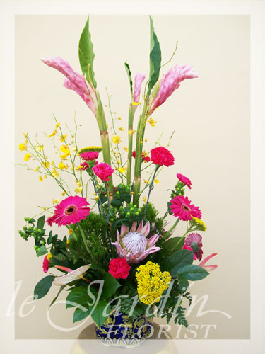 Cinco de mayo flower arrangement le jardin florist for Arrangement jardin