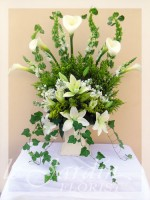 Forever in My Heart Funeral Flower Arrangement | Le Jardin Florist