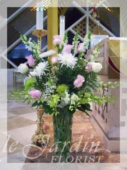 Serenity Funeral / Sympathy Flower Arrangement | Le Jardin Florist