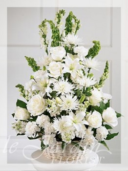 Peaceful Thoughts Funeral / Sympathy Flower Arrangement | Le Jardin Florist