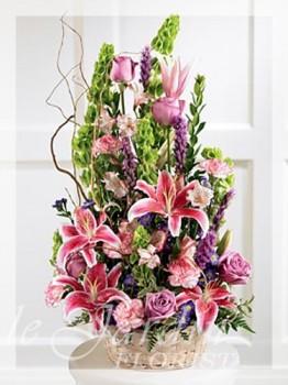Colorful Condolences Funeral / Sympathy Flower Arrangement | Le Jardin Florist