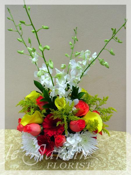 Perfect Juicy Colors Flower Arrangement | Le Jardin Florist   North Palm Beach  Flowers Photo