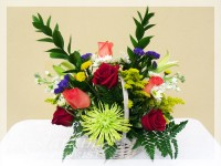 Simple Celebration Basket II Flower Arrangement by Le Jardin Florist - North Palm Beach Flowers