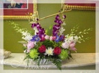 Ultimate - Orchid Sunrise Flower Arrangement by Le Jardin Florist