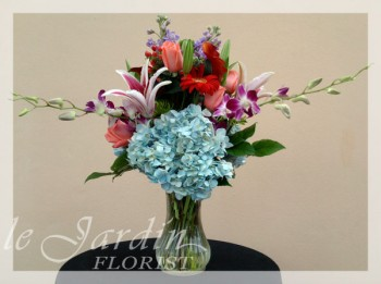 French Vase III Flower Arrangement - by Le Jardin Florist