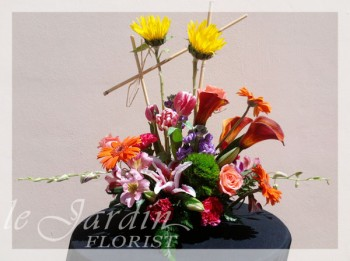 Monte Carlo Contemporary Flower Arrangement by Le Jardin Florist