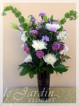 Eternal Memories Funeral / Sympathy Flower Arrangement - by Le Jardin Florist