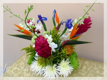 Irisiana Tropical Flower Arrangement by Le Jardin Florist - North Palm Beach Flowers