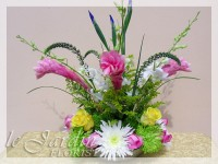 Pink Romance Tropical Flower Arrangement by Le Jardin Florist