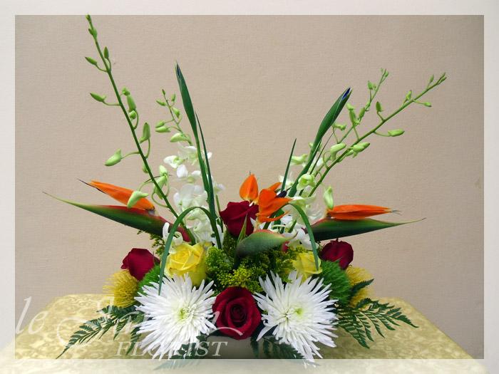 Tropicana Flower Arrangement By Le Jardin Florist   North Palm Beach Flowers