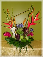 Tropical Asymmetry - a Le Jardin Florist Signature Flower Arrangement