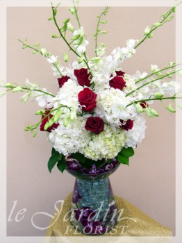 Feeria - a Le Jardin Florist Signature Flower Arrangement - Double Vase Large Arrangement