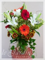 Orange Victorian Bouquet Flower Arrangement | Le Jardin Florist