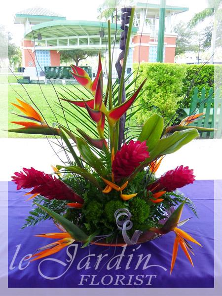 tropical paradise a le jardin florist signature flower