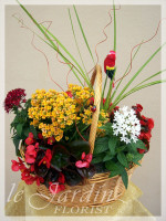 French Blooming Basket